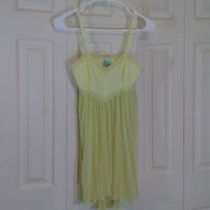 Free People Yellow Shortie Nightgown